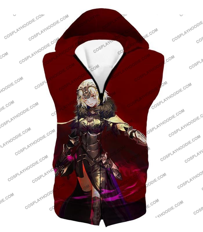 Fate Stay Night Beautiful Blonde Jeanne Red Action T-Shirt Fsn144 Hooded Tank Top / Us Xxs (Asian