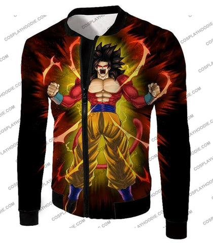 Image of Dragon Ball Super Goku Saiyan 4 Ultimate Power Promo Black T-Shirt Dbs144 Jacket / Us Xxs (Asian Xs)