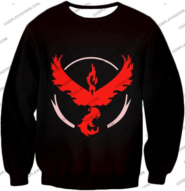 Pokemon Cool Go Team Valor Moltres Logo Black T-Shirt Pkm145 Sweatshirt / Us Xxs (Asian Xs)
