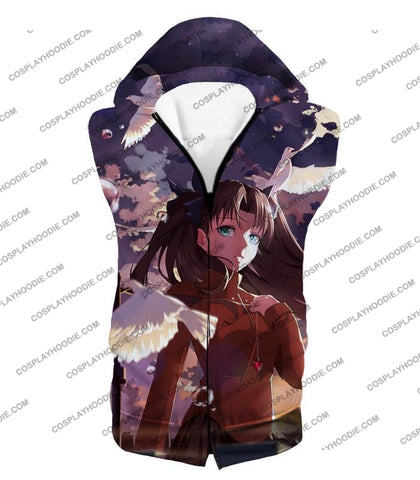 Image of Fate Stay Night Cute Anime Girl Rin Tohsaka Cool Printed T-Shirt Fsn145 Hooded Tank Top / Us Xxs