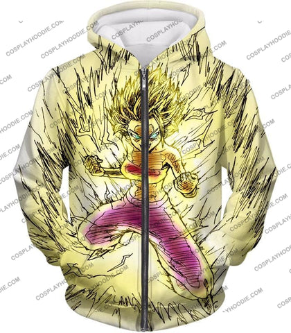 Image of Dragon Ball Super Caulifla The Ultimate Female Saiyan Cool Art White T-Shirt Dbs147 Zip Up Hoodie /
