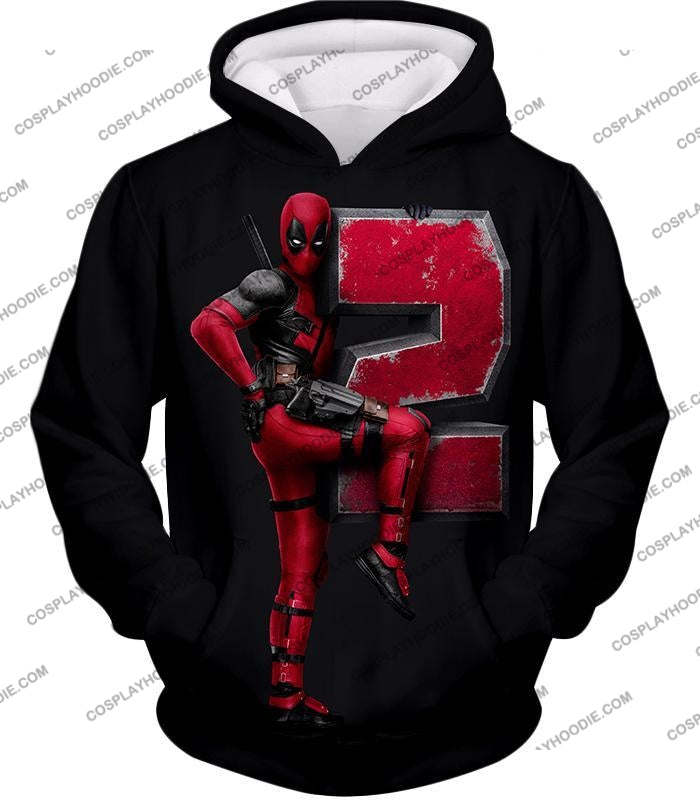 Marvels Awesome Movie Deadpool 2 Promo Black T-Shirt Dp149 Hoodie / Us Xxs (Asian Xs)