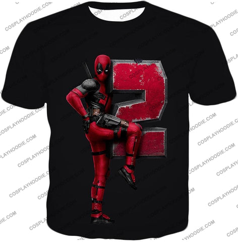 Image of Marvels Awesome Movie Deadpool 2 Promo Black T-Shirt Dp149 / Us Xxs (Asian Xs)