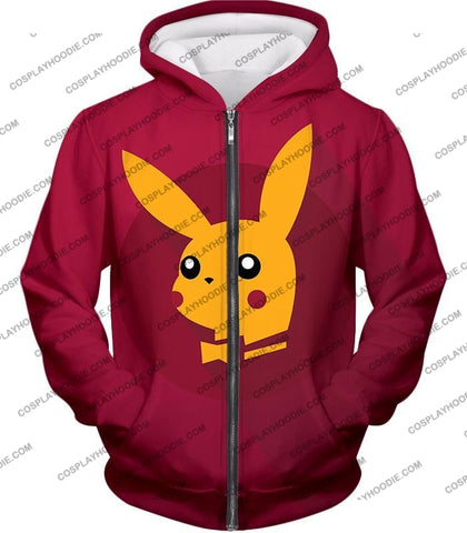 Image of Pokemon Amazing Promo Pikachu Cool Purple Anime T-Shirt Pkm149 Zip Up Hoodie / Us Xxs (Asian Xs)