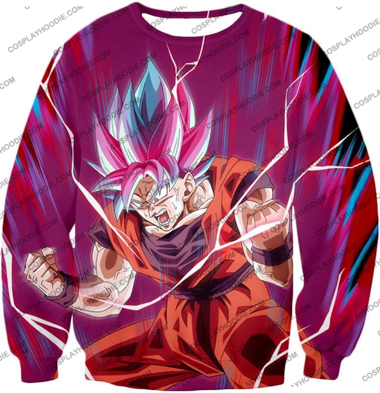 Dragon Ball Super Rising Ultimate Power Goku Saiyan Blue Kaio-Ken Incredible Action T-Shirt Dbs149