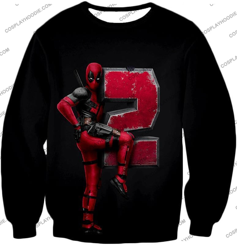 Marvels Awesome Movie Deadpool 2 Promo Black T-Shirt Dp149 Sweatshirt / Us Xxs (Asian Xs)