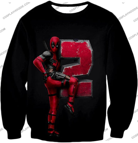 Image of Marvels Awesome Movie Deadpool 2 Promo Black T-Shirt Dp149 Sweatshirt / Us Xxs (Asian Xs)