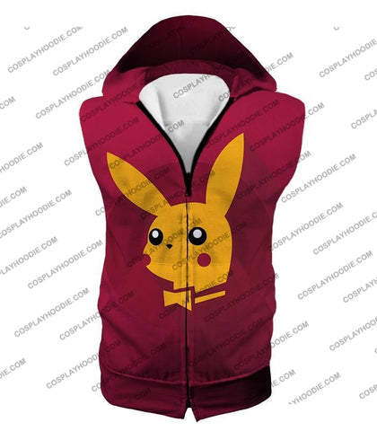 Image of Pokemon Amazing Promo Pikachu Cool Purple Anime T-Shirt Pkm149 Hooded Tank Top / Us Xxs (Asian Xs)