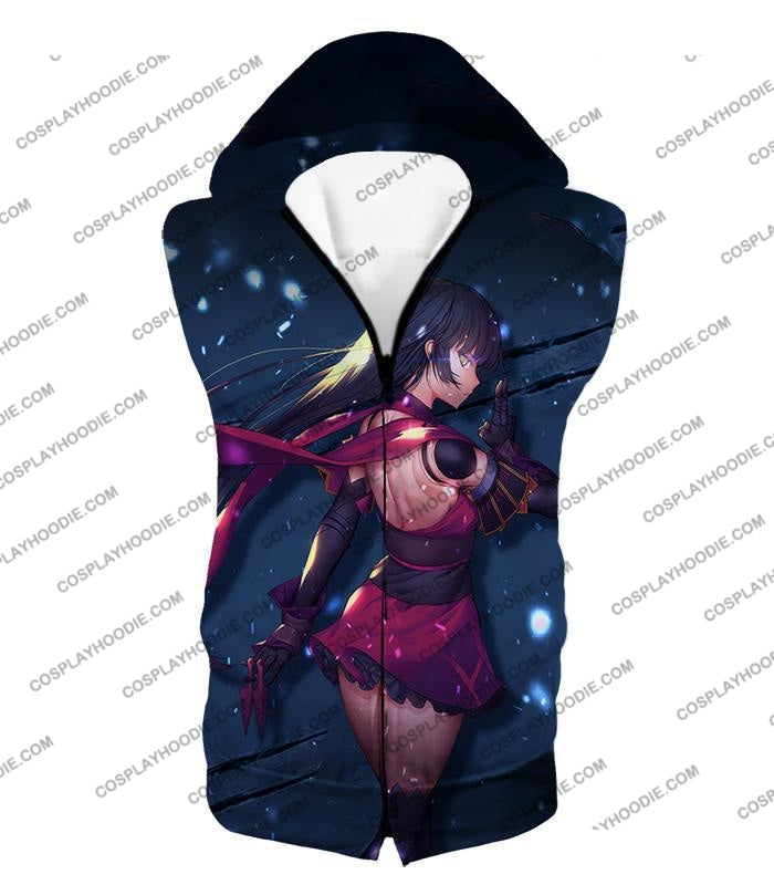 Fate Stay Night Hot Black Haired Female Fighter Series Action T-Shirt Fsn149 Hooded Tank Top / Us