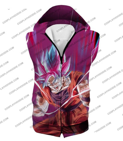 Image of Dragon Ball Super Rising Ultimate Power Goku Saiyan Blue Kaio-Ken Incredible Action T-Shirt Dbs149