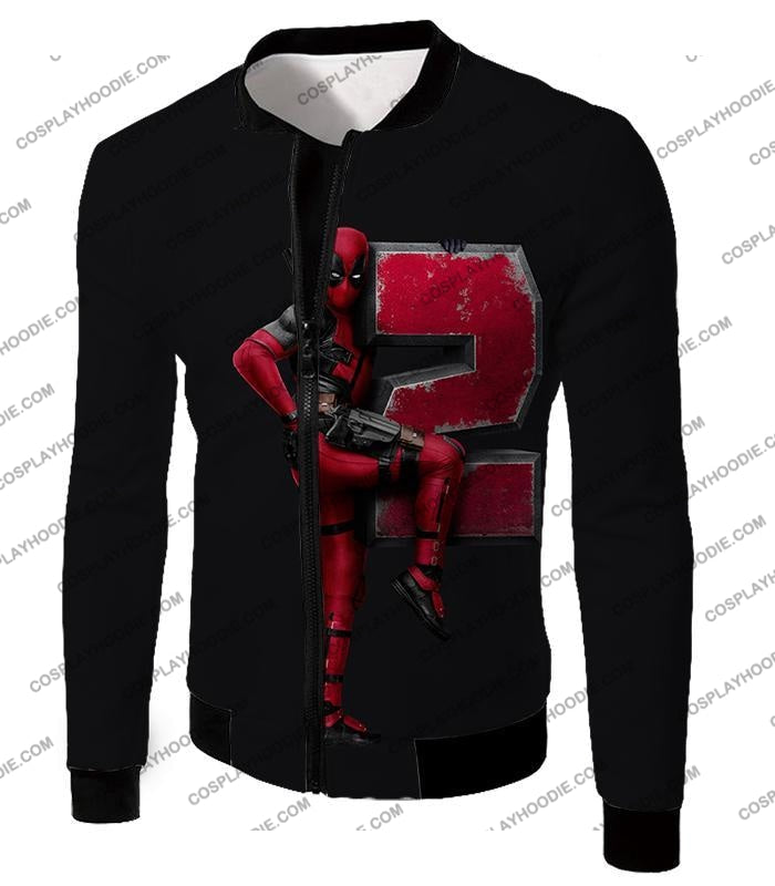 Marvels Awesome Movie Deadpool 2 Promo Black T-Shirt Dp149 Jacket / Us Xxs (Asian Xs)