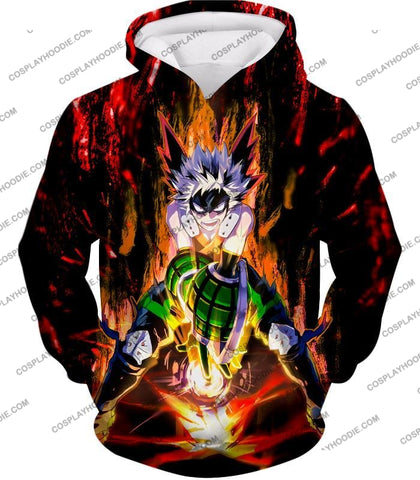 Image of My Hero Academia Awesome Explosion Quirk Bakugo Katsuki Ultimate Action T-Shirt Mha065 Hoodie / Us
