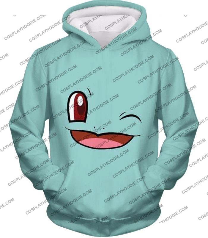 Pokemon Squirtle Wink Artwork Blue T-Shirt Pkm165 Hoodie / Us Xxs (Asian Xs)