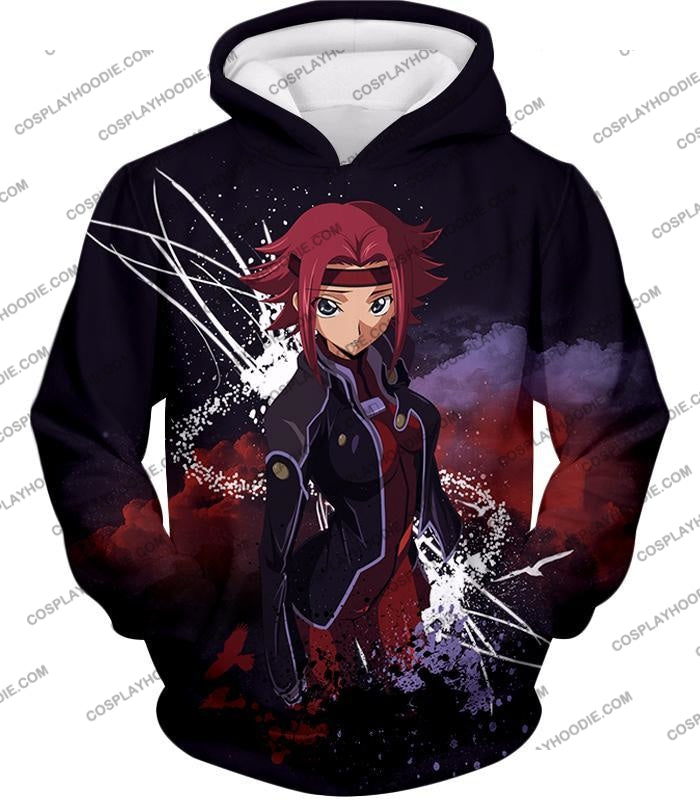 Red Haired Anime Girl Kallen Stadtfeld Alias Q-1 Cool Poster T-Shirt Cg015 Hoodie / Us Xxs (Asian