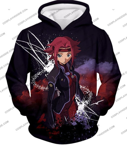 Image of Red Haired Anime Girl Kallen Stadtfeld Alias Q-1 Cool Poster T-Shirt Cg015 Hoodie / Us Xxs (Asian