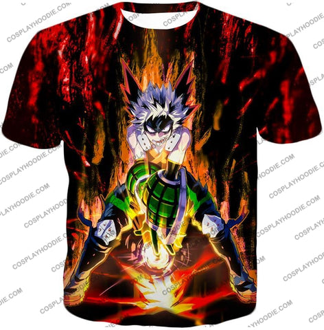 Image of My Hero Academia Awesome Explosion Quirk Bakugo Katsuki Ultimate Action T-Shirt Mha065 / Us Xxs