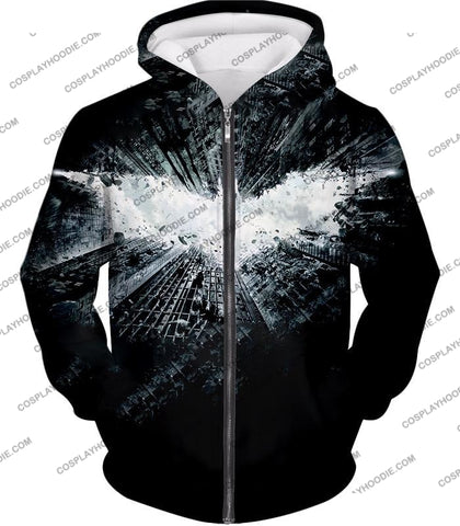 Image of Ultimate Batman Logo Graphic Promo T-Shirt Bm015 Zip Up Hoodie / Us Xxs (Asian Xs)