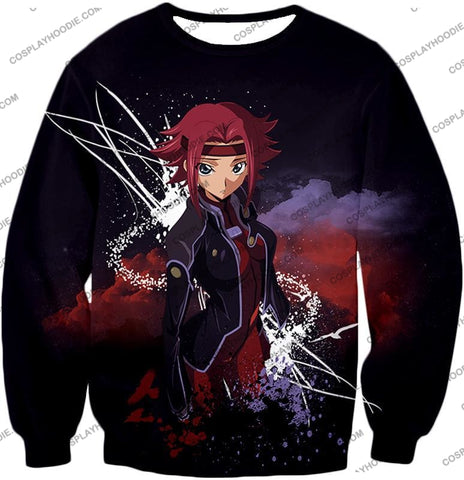 Image of Red Haired Anime Girl Kallen Stadtfeld Alias Q-1 Cool Poster T-Shirt Cg015 Sweatshirt / Us Xxs
