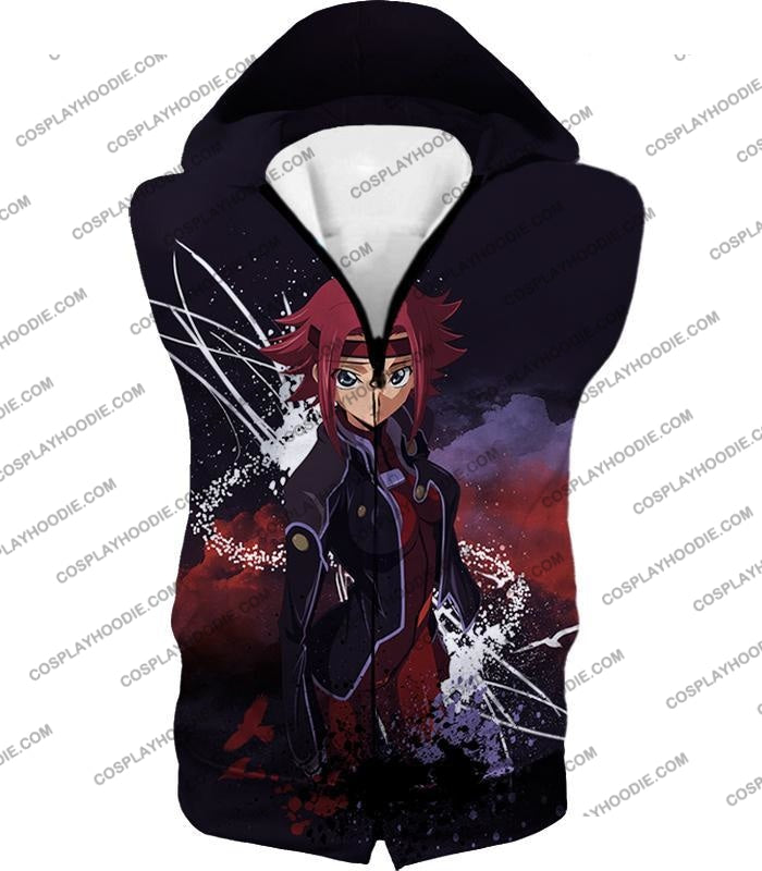 Red Haired Anime Girl Kallen Stadtfeld Alias Q-1 Cool Poster T-Shirt Cg015 Hooded Tank Top / Us Xxs