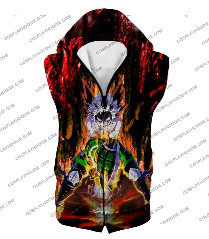 My Hero Academia Awesome Explosion Quirk Bakugo Katsuki Ultimate Action T-Shirt Mha065 Hooded Tank