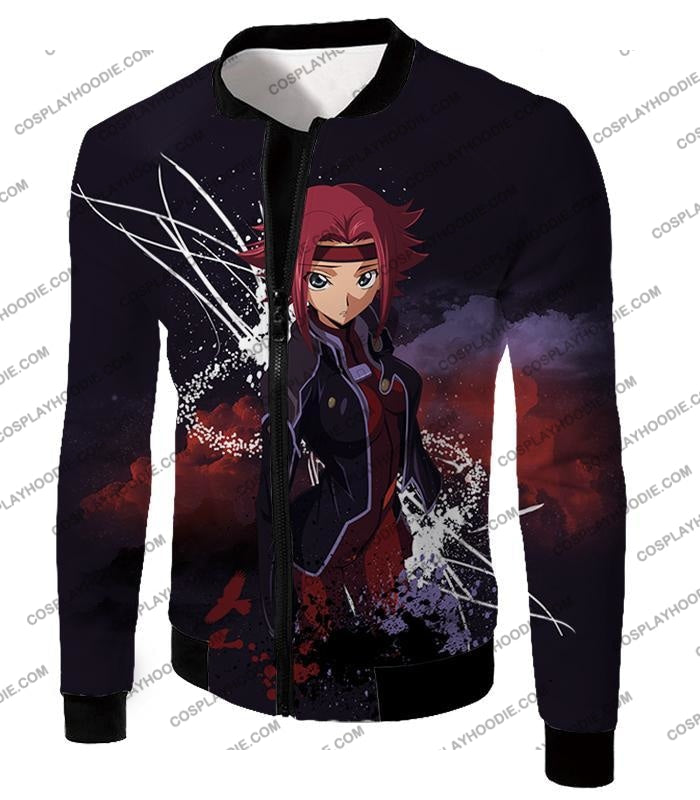 Red Haired Anime Girl Kallen Stadtfeld Alias Q-1 Cool Poster T-Shirt Cg015 Jacket / Us Xxs (Asian