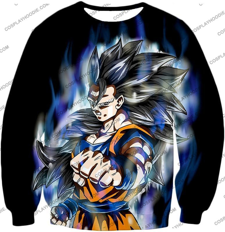 Dragon Ball Super Goku Ultra Instinct Saiyan 3 Awesome Action Black T-Shirt Dbs155 Sweatshirt / Us