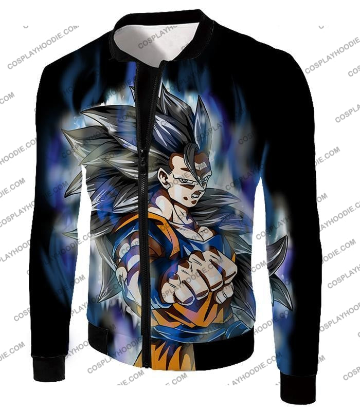 Dragon Ball Super Goku Ultra Instinct Saiyan 3 Awesome Action Black T-Shirt Dbs155 Jacket / Us Xxs