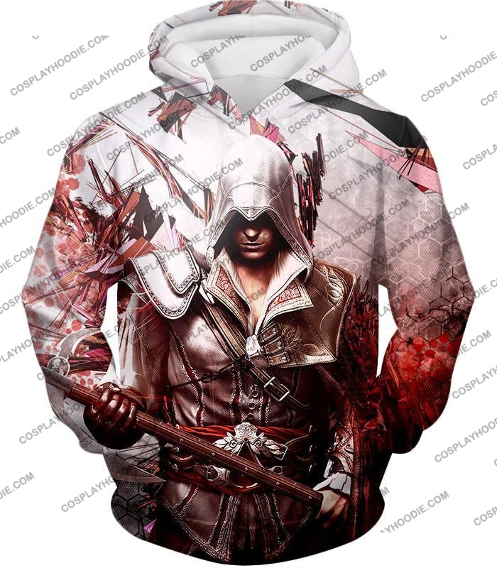 Ultimate Ezio Auditore Cool Action Assassin Hero Graphic T-Shirt Ac016 Hoodie / Us Xxs (Asian Xs)
