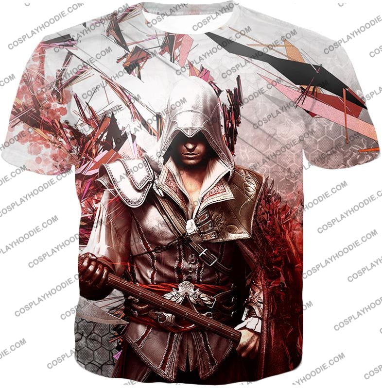 Ultimate Ezio Auditore Cool Action Assassin Hero Graphic T-Shirt Ac016 / Us Xxs (Asian Xs)