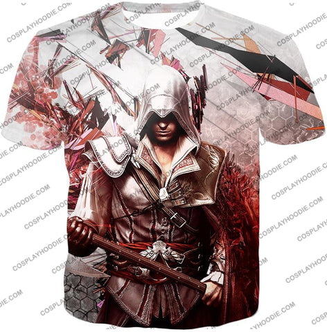 Image of Ultimate Ezio Auditore Cool Action Assassin Hero Graphic T-Shirt Ac016 / Us Xxs (Asian Xs)