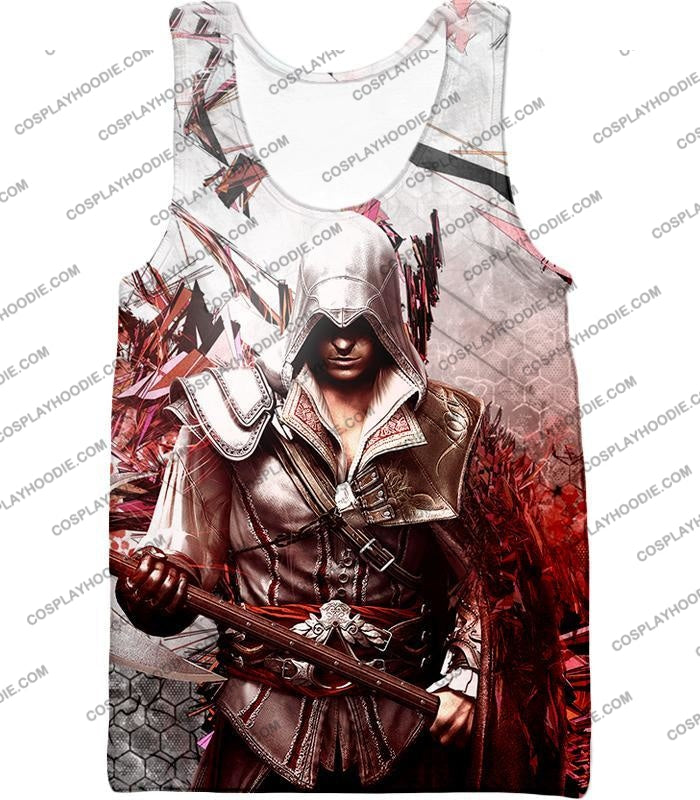 Ultimate Ezio Auditore Cool Action Assassin Hero Graphic T-Shirt Ac016 Tank Top / Us Xxs (Asian Xs)