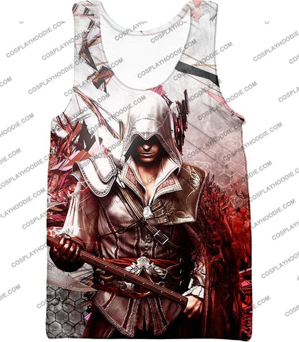 Image of Ultimate Ezio Auditore Cool Action Assassin Hero Graphic T-Shirt Ac016 Tank Top / Us Xxs (Asian Xs)
