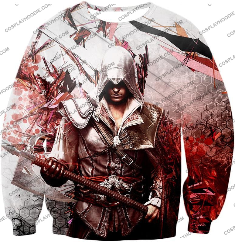 Ultimate Ezio Auditore Cool Action Assassin Hero Graphic T-Shirt Ac016 Sweatshirt / Us Xxs (Asian