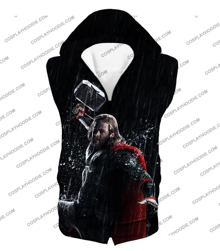 Marvel Cinematic Cool Thor Action Black T-Shirt Thor016 Hooded Tank Top / Us Xxs (Asian Xs)