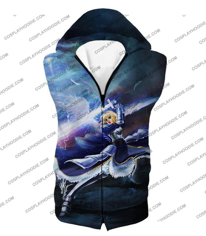 Image of Fate Stay Night King Arthur Noble Phantasm Action T-Shirt Fsn016 Hooded Tank Top / Us Xxs (Asian Xs)