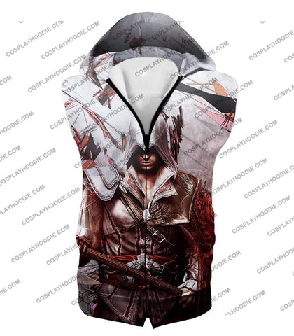 Image of Ultimate Ezio Auditore Cool Action Assassin Hero Graphic T-Shirt Ac016 Hooded Tank Top / Us Xxs