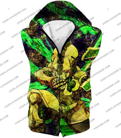 Image of Jojos Bizarre Adventure C Koichi Hirose Stand Echoes Action T-Shirt Jo016 Hooded Tank Top / Us Xxs