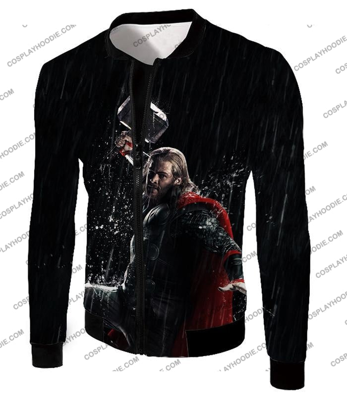 Marvel Cinematic Cool Thor Action Black T-Shirt Thor016 Jacket / Us Xxs (Asian Xs)