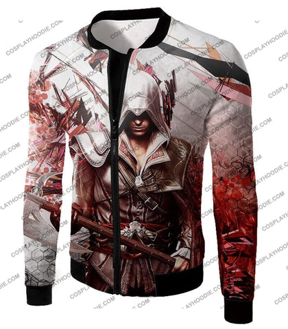 Image of Ultimate Ezio Auditore Cool Action Assassin Hero Graphic T-Shirt Ac016 Jacket / Us Xxs (Asian Xs)