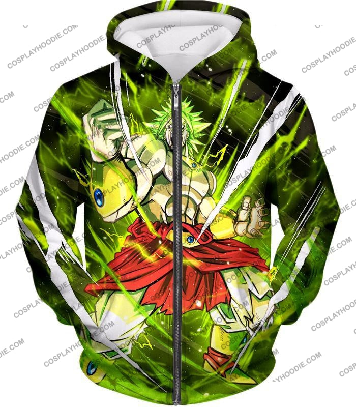 Dragon Ball Super Broly Legendary Saiyan Ultimate Action Graphic Anime T-Shirt Dbs164 Zip Up Hoodie
