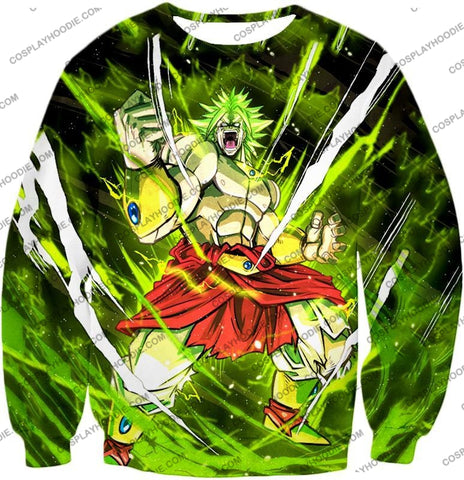 Image of Dragon Ball Super Broly Legendary Saiyan Ultimate Action Graphic Anime T-Shirt Dbs164 Sweatshirt /