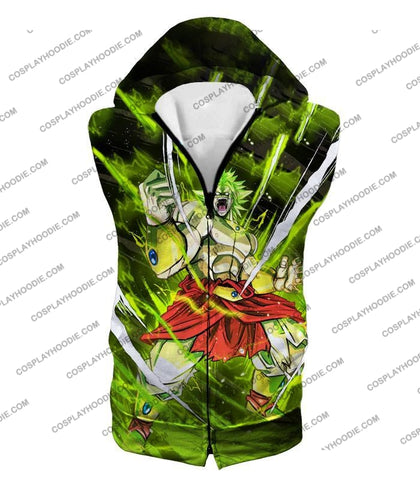 Image of Dragon Ball Super Broly Legendary Saiyan Ultimate Action Graphic Anime T-Shirt Dbs164 Hooded Tank