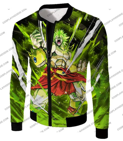 Image of Dragon Ball Super Broly Legendary Saiyan Ultimate Action Graphic Anime T-Shirt Dbs164 Jacket / Us