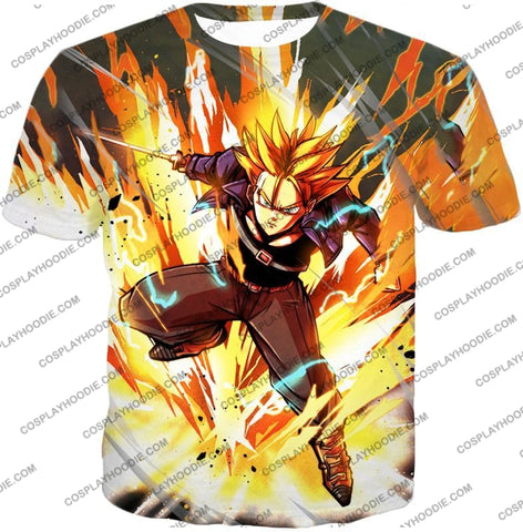 Image of Dragon Ball Super Future Trunks Saiyan Awesome Action Anime T-Shirt Dbs165 / Us Xxs (Asian Xs)