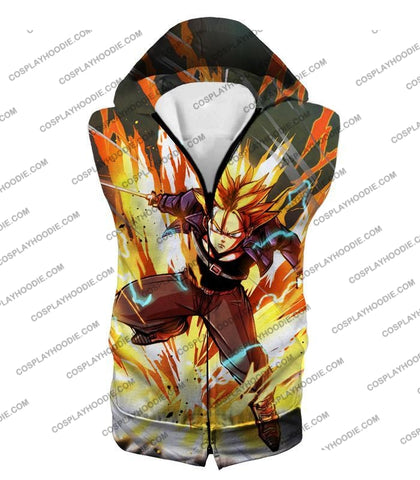 Image of Dragon Ball Super Future Trunks Saiyan Awesome Action Anime T-Shirt Dbs165 Hooded Tank Top / Us Xxs