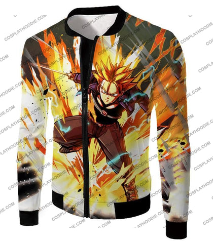 Image of Dragon Ball Super Future Trunks Saiyan Awesome Action Anime T-Shirt Dbs165 Jacket / Us Xxs (Asian
