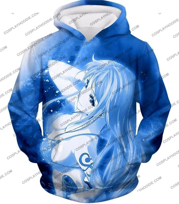 One Piece Sexy Pirate Nami Of Straw Hats Cool Blue T-Shirt Op166 Hoodie / Us Xxs (Asian Xs)