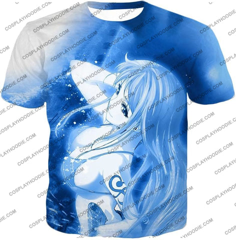 Image of One Piece Sexy Pirate Nami Of Straw Hats Cool Blue T-Shirt Op166 / Us Xxs (Asian Xs)