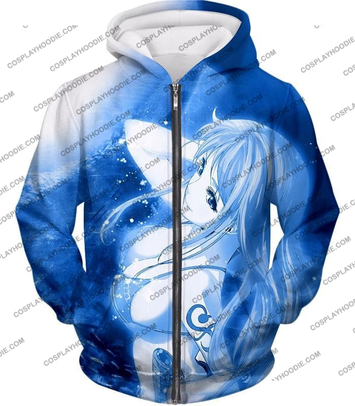 One Piece Sexy Pirate Nami Of Straw Hats Cool Blue T-Shirt Op166 Zip Up Hoodie / Us Xxs (Asian Xs)