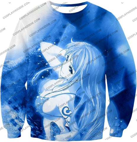 Image of One Piece Sexy Pirate Nami Of Straw Hats Cool Blue T-Shirt Op166 Sweatshirt / Us Xxs (Asian Xs)